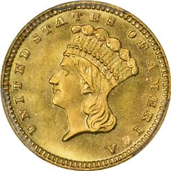 Gem Mint State 1884 Gold $1. 1884 Gold $1. MS-67 PCGS. CAC.