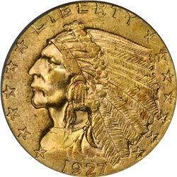 1927 Gold $2.50. MS-61 PCGS.