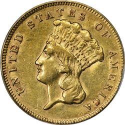 1878 Gold $3. AU-53 PCGS.