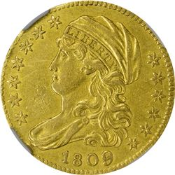 AU Details 1809/8 Half Eagle. 1809/8 Gold $5. BD-1. Rarity-3+. Genuine - Cleaned - AU Details NGC.