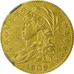 AU Details 1809/8 Half Eagle. 1809/8 Gold $5. BD-1. Rarity-3+. Genuine - Cleaned - AU Details NGC.