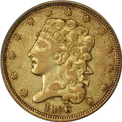 1836 Gold $5. Breen-6510. Third Head, Large 5. VF-25 PCGS. OGH.