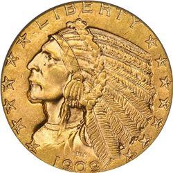 1909-D Gold $5. MS-62 PCGS.