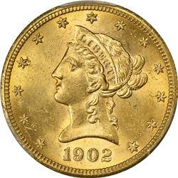 1902-S Gold $10. MS-64 PCGS.