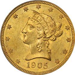 1905 Gold $10. MS-62 PCGS.