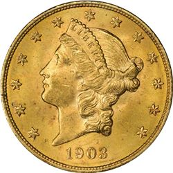 1903 Gold $20. MS-63 PCGS. OGH.