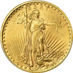 1910 Gold $20. MS-64 PCGS.