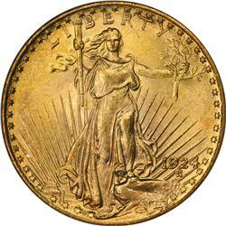 1924 Gold $20. MS-64 PCGS.
