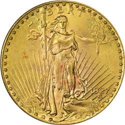 1927 Gold $20. MS-64 PCGS.