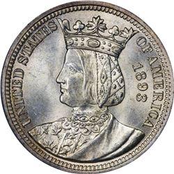 1893 Isabella 25¢. MS-64 PCGS.