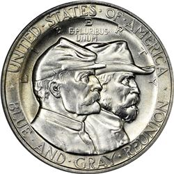 1936 Gettysburg 50¢. MS-63 PCGS.