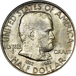 1922 Grant 50¢. No Star. MS-65 PCGS.