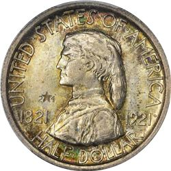 1921 Missouri 50¢. 2*2 in Field. MS-65 PCGS.