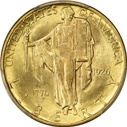 1926 Sesquicentennial Gold $2.50. MS-65 PCGS.