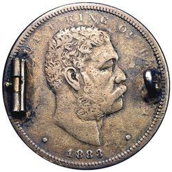 Hawaii. 1883 Hapalua or Half Dollar. Enameled Reverse. Overall EF.
