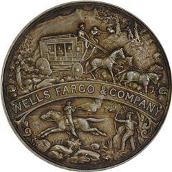 California. San Francisco. 1902 Wells Fargo Semi-Centennial. HK-296. Silver. Plain Edge.