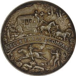 California. San Francisco. 1902 Wells Fargo Semi-Centennial. HK-296. Silver. Plain Edge.
