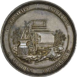 South Carolina. 1851 The South Carolina Institute. Silver. 48 mm. 704.5 grains.