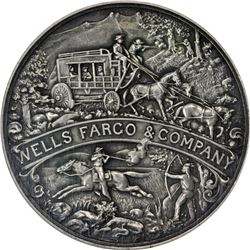 California. San Francisco. 1902 Wells Fargo Semi-Centennial. HK-296. Silver. Plain Edge. Coin Turn.