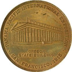 California. San Francisco. 1915 Panama-Pacific International Exposition SC$1. Oregon State Building.