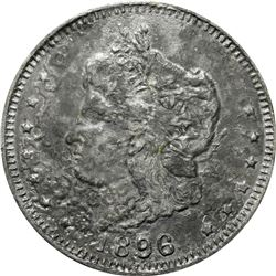 1896 Bryan Money. 16 to 1 NIT. Zerbe-62. Type Metal.  90 mm. Overall Choice EF.