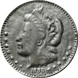 1896 Bryan Money. 16 to 1 – NIT. Zerbe 77. Lead or Babbitt Metal. 89 mm. Overall VF, struck intentio