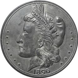 1896 Bryan Money. 16 to 1 – NIT. Zerbe 80. Lead or Type Metal. 86 mm. Overall AU to Uncirculated.