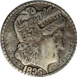 1896 Bryan Money. 16 to 1. Zerbe 111. Aluminum. 80.0 mm. Overall EF.