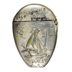 Illinois. Chicago. 1892-1893 World's Columbian Exposition. Columbus' Egg Souvenir.