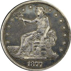 """Fabulous 1877-S Box Trade Dollar Engraved and Photograph. 1877-S Box or """"Opium"""" Trade Dollar. Engrav"""
