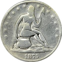 1875-S Potty Half Dollar. VG, Cleaned.