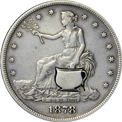 1878-S Potty Trade Dollar. VF.