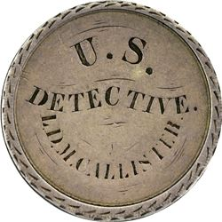 """Love Token. """"U.S. Detective"""" on Early Mexico First Republic 8 Reales. Overall VF."""