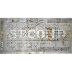 Extremely Rare Rattlesnake Bar Documents. Set of (2) Gold Rush Documents of 1855 & 1857 Wells Fargo