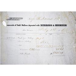 Rare S.S. Central America gold Ingot Assayer and Coiner. San Francisco, California. Kellogg & Richte