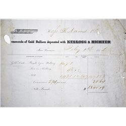 Rare S.S. Central America gold Ingot Assayer and Coiner. San Francisco, California. Kellogg & Richte