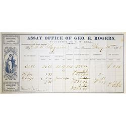 Lot of (2) San Francisco, California. Assay Office of G.W. Bell & Assay Office of Geo. E. Rogers. Go