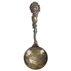 """Gold Rush"" Sterling Silver $50 Octagonal Slug Spoon"