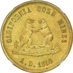 Impressive 1850 California Gold Mines Token Choice Uncirculated. California. 1850-Dated California G