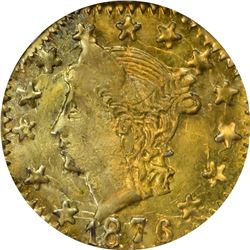 1876 Octagonal 25¢. BG-778. Liberty Head. Rarity-7-. MS-63 PCGS. OGL.