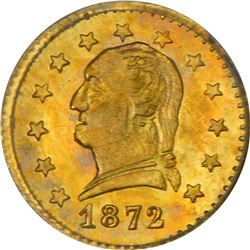 Round 1872 Washington Head Quarter. 1872 Round 25¢. BG-818. Washington Head. Rarity-4-. MS-64 PCGS.