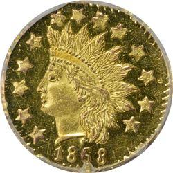 """1868"" (1881-1883) Octagonal 50¢. BG-961. Rarity-7. MS-63 PL NGC."