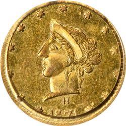 1871-H Round 50¢. BG-1041. Liberty Head. Rarity-6. MS-62 PCGS. OGL.