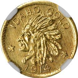 Idaho Gold. 1914 $1-Sized. ESTO PERPETUA. MS-66 NGC.