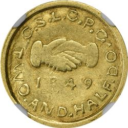 Lovely & Scarce 1849 $2.50 Mormon Gold. 1849 Deseret Assay Office. Mormon $2.50 Gold. Kagin-1. Rarit