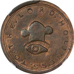 Finest Known Uniface Copper 1849 Mormon $10 Obverse. 1849 Mormon $10 Uniface Copper Obv, K-4 P.E. Re