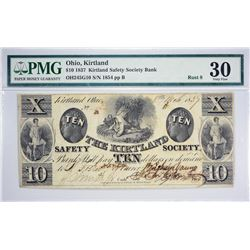 Tied for Second Finest $10 Countersigned Kirtland Notes. 1837 $10 Kirtland Safety Society Bank. Kirt