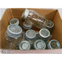 BOX OF VINTAGE JARS