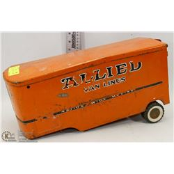VINTAGE TIN  ALLIED VAN LINES TRAILER