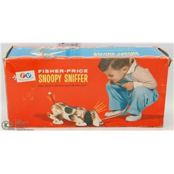 1969 FISHER PRICE SNOOPY SNIFFER.